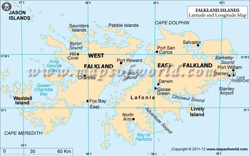 Falkland Islands Latitude and Longitude Map Latitude Longitude