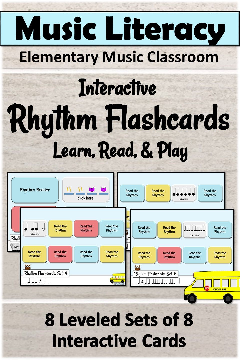 Rhythm Cards Interactive Music Activities And Centers