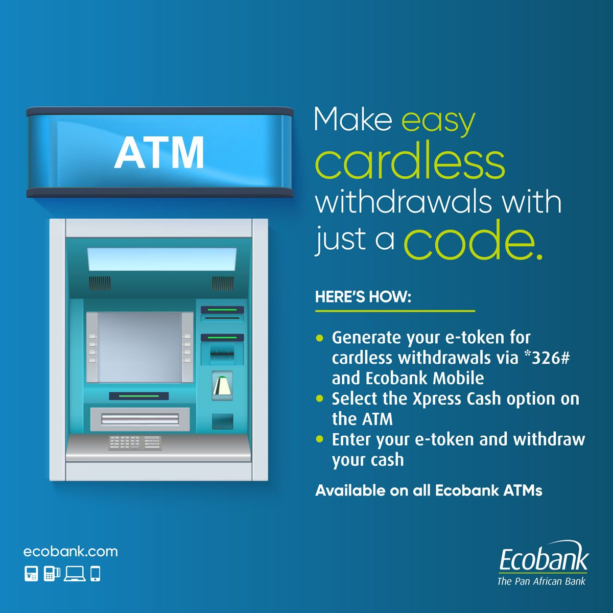 How To Get Money From An Atm Without Your Card