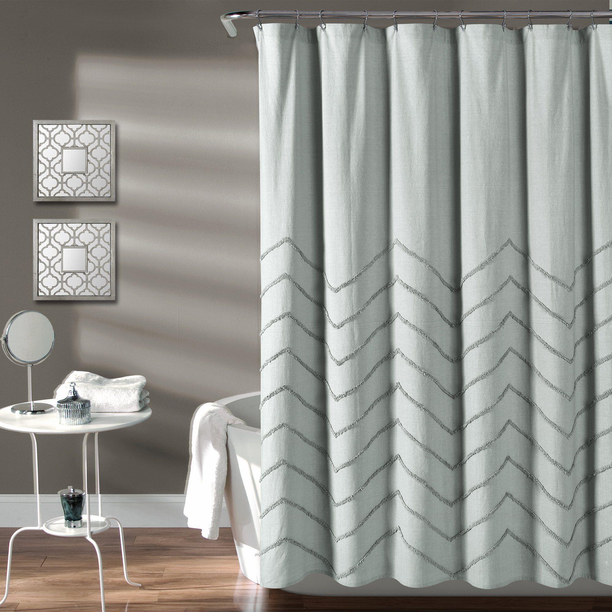 Chenille Chevron Shower Curtain Elegant Shower Curtains