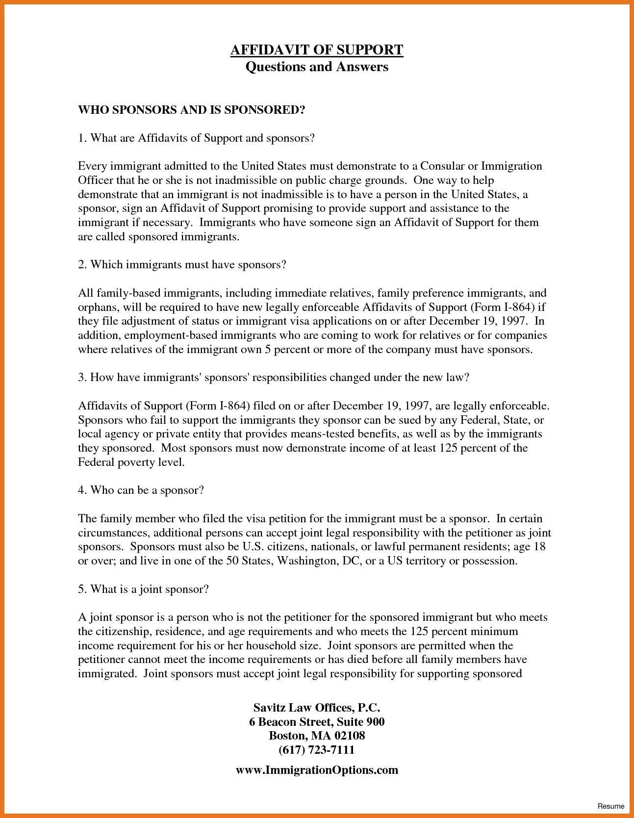 Affidavit Of Support Employment Letter Sample from i.pinimg.com