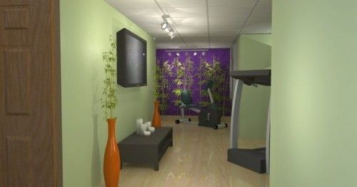 Keep exercise rooms stylish comfortable - add colors to ...