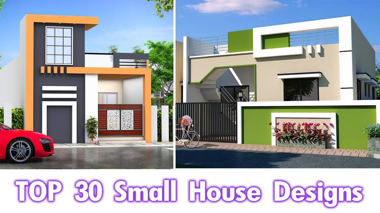 30 Smart Home Designs Small Home Front View Design Single Floor Hous House Design Small House Design Design