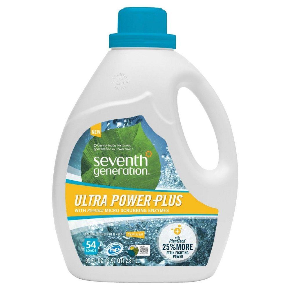 Seventh Generation Fresh Scent Ultra Power Plus Liquid Laundry Detergent 95 Fl Oz Laundry Detergent Liquid Laundry Detergent Best Cleaning Products