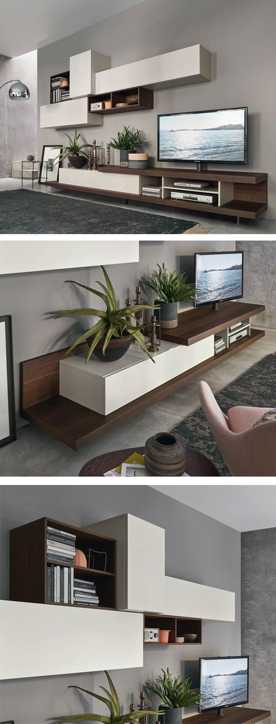 Livitalia Wohnwand C52 Guest Room Design Living Room Wall Units Living Room Designs