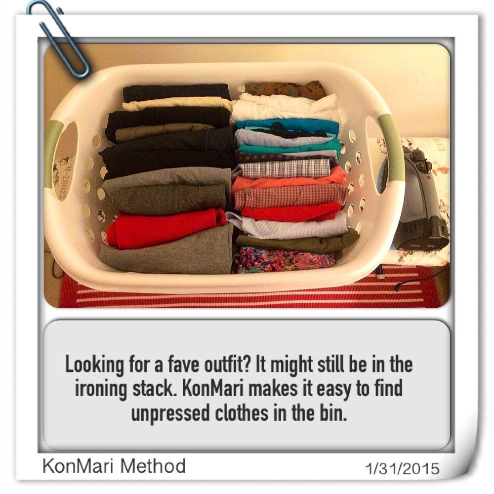 KonMari Method - Unpressed/ironing Clothes Bin