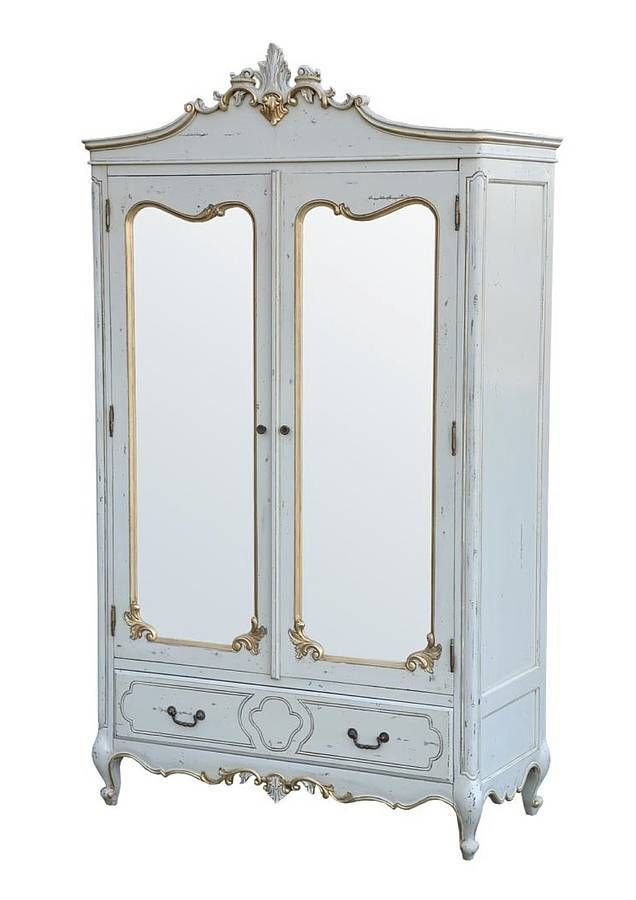 Exceptionnel Marie Double Door Armoire For Kids, Baby Blue U0026 Gold