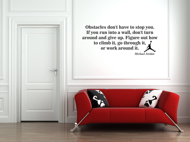 Michael jordans air jump man quote vinyl decal stickers stencil michael jordan basketball player vinyl decal stickers wall art home decor amipublicfo Images