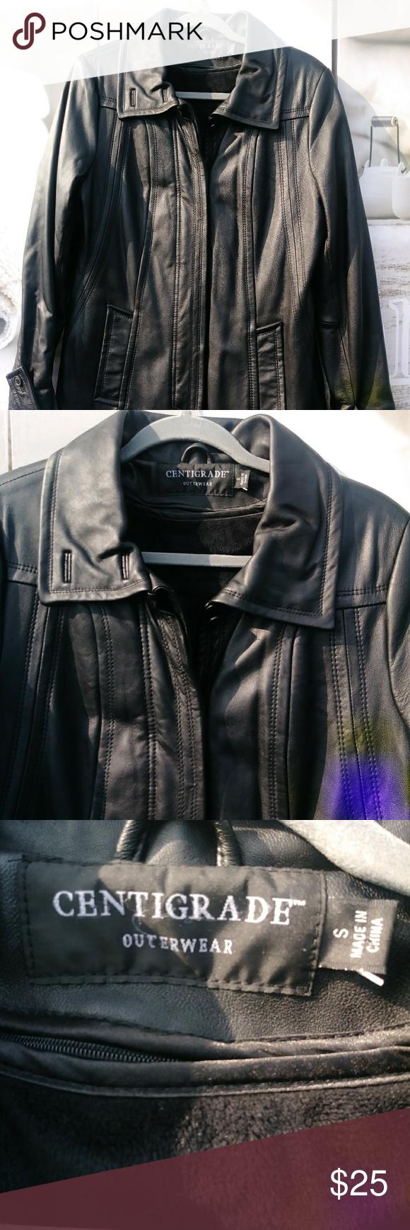 Leather Jacket By Centigrade Sz S Leather Jacket Jackets Leather [ 1740 x 580 Pixel ]