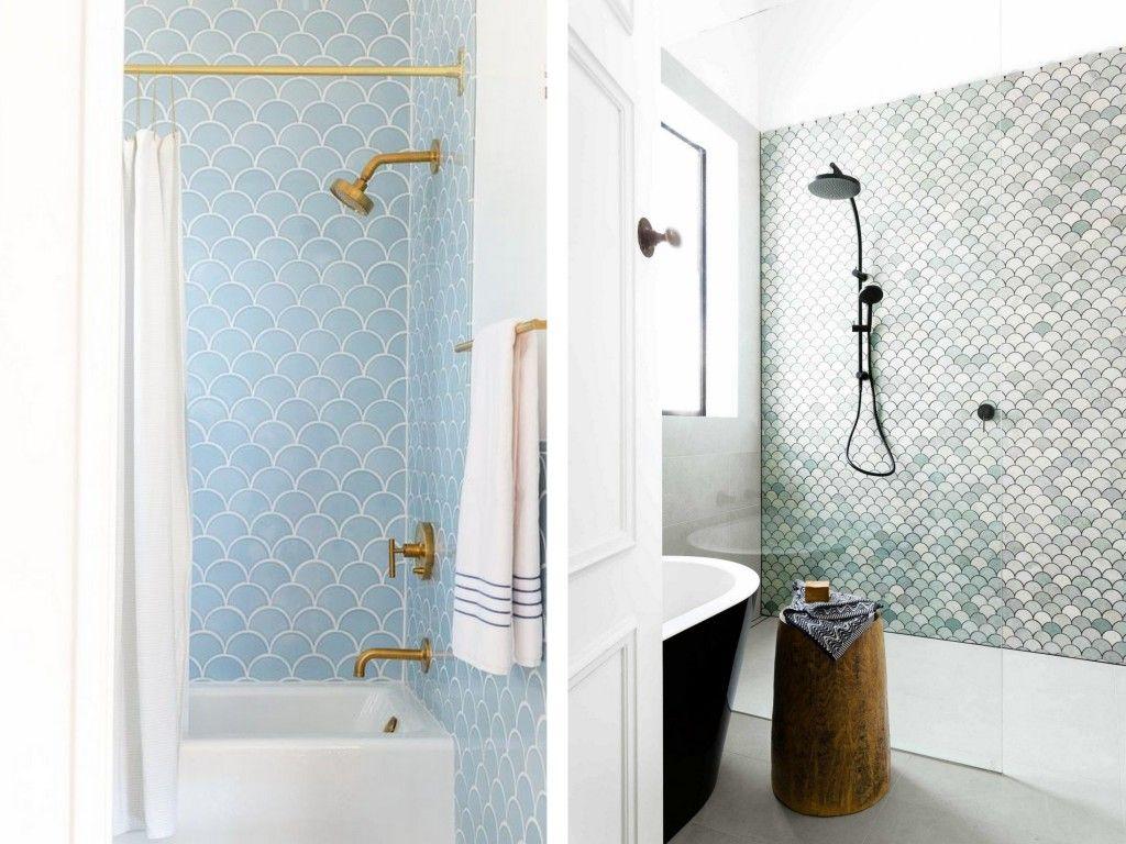 Le Carrelage écaille Féminin Et Rétro Tile Showers - Carrelage écaille