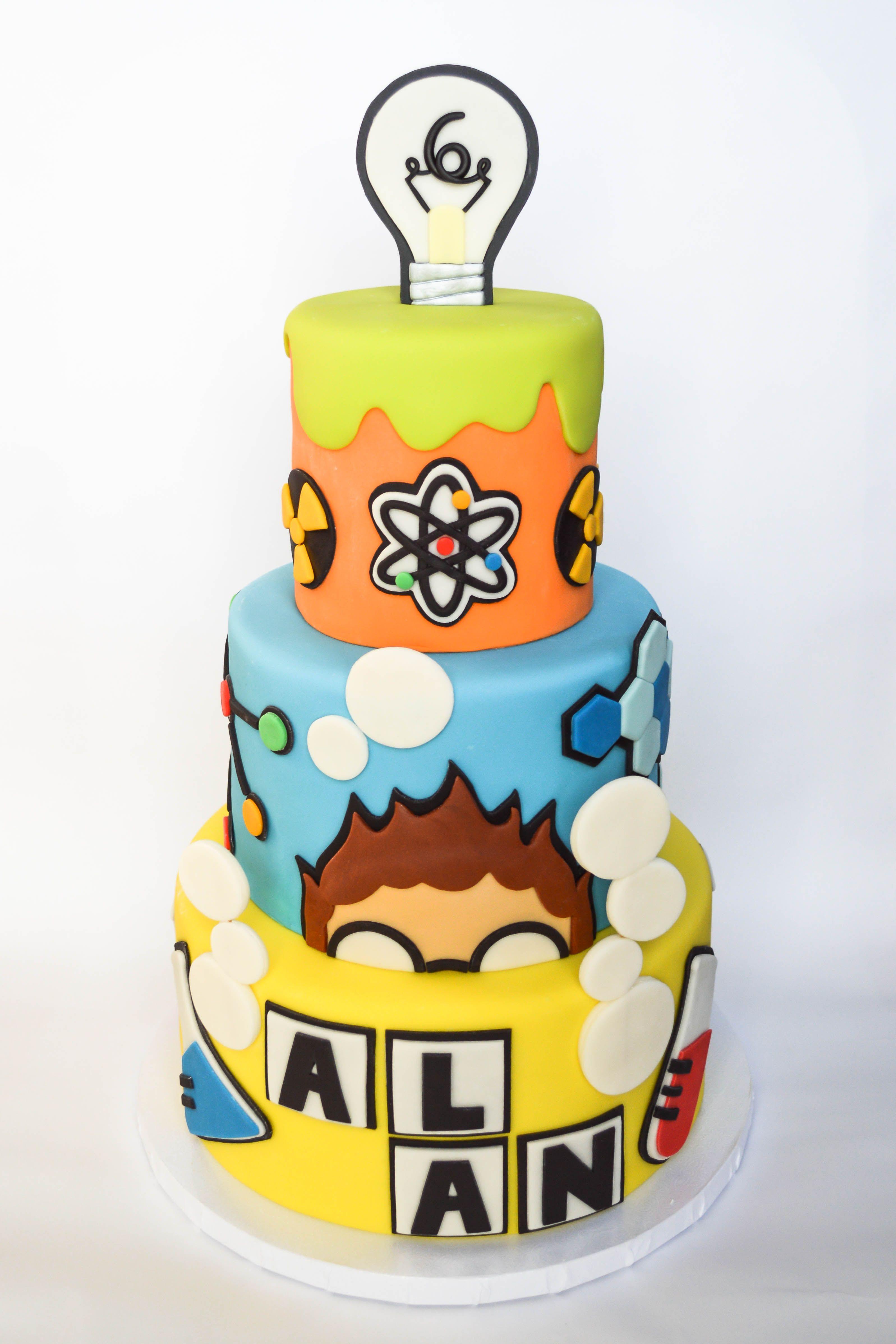 Phenomenal Science Themed Birthday Cake With Images Boy Birthday Cake Birthday Cards Printable Inklcafe Filternl