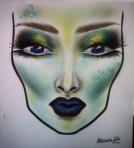 Mermaid - #makeupart #greenmakeup #greenshadow #aleksandrapl - bellashoot iPhone & iPad app & bellashoot.com