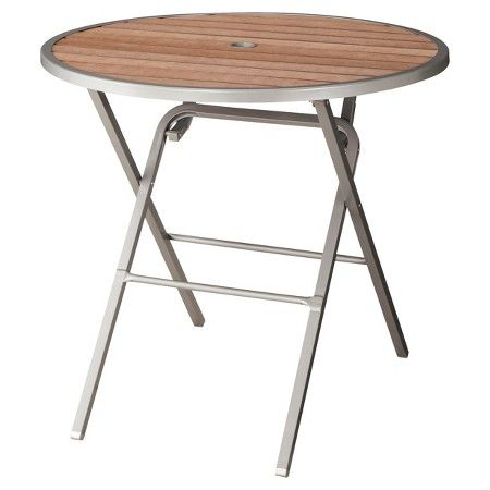 Threshold Bryant Faux Wood Folding Round Patio Dining Table Target