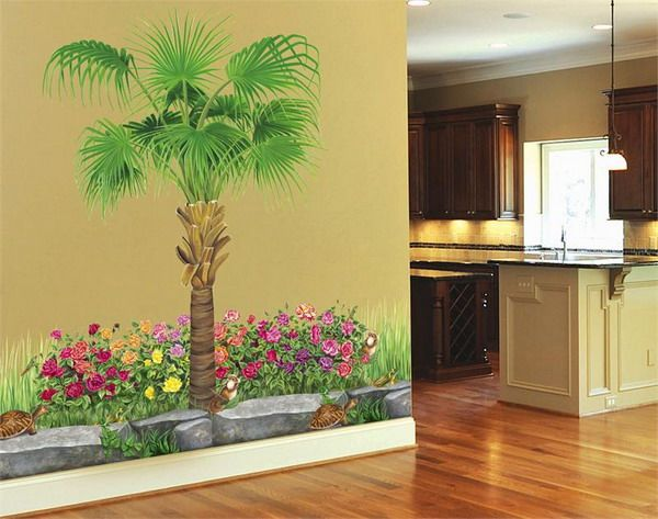 Outdoor Mural Ideas Ideas for Garden Wall Mural Stencils Best