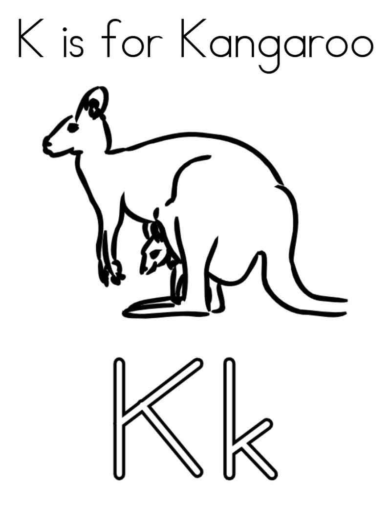 Kangaroo Coloring Pages Kids From Animals Coloring Pages Category