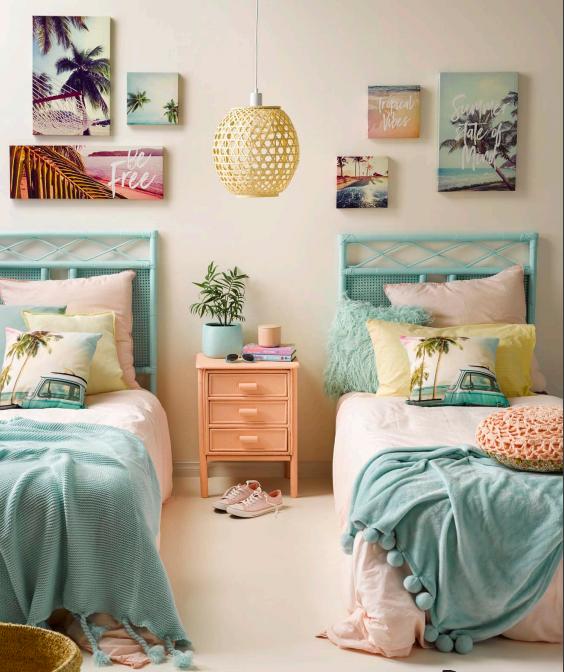 Girls Surf Bedroom Tropical Bedrooms Kid Room Decor Girl Room
