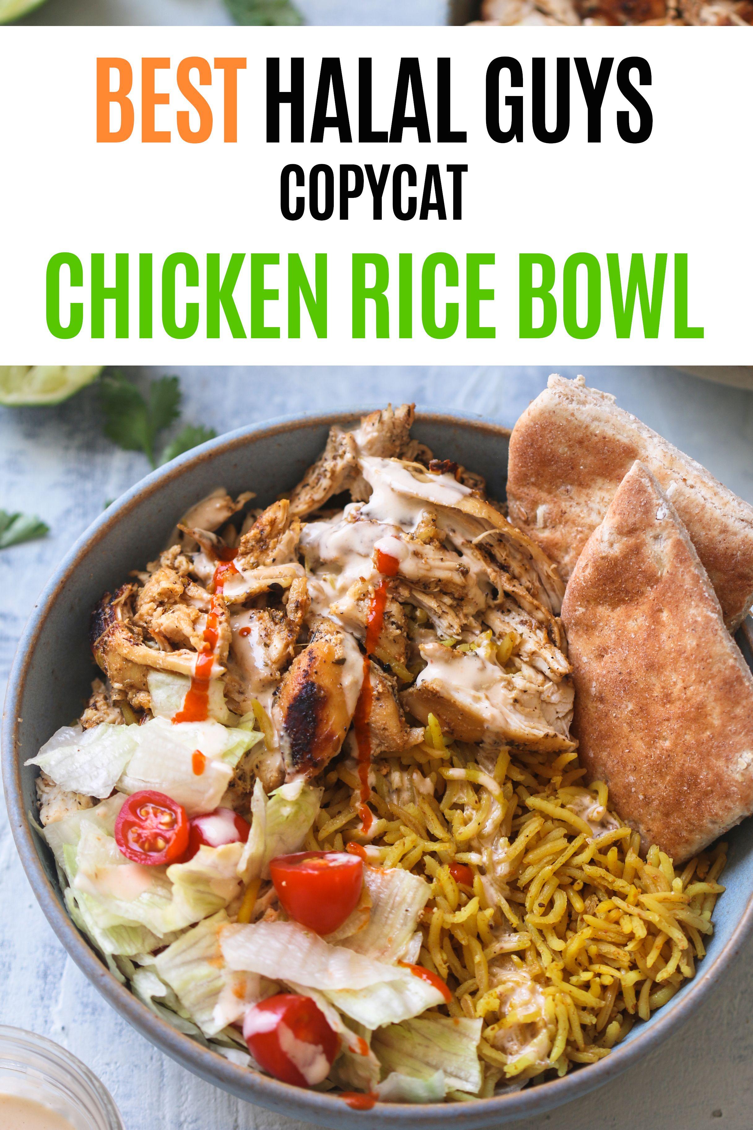 Halal Guys Chicken Rice Bowl Copycat Recipe Foodfashionparty Halalguyschicken Chickenbowl Chicken Rice Bowls Halal Guys Recipe Chicken Recipes Halal