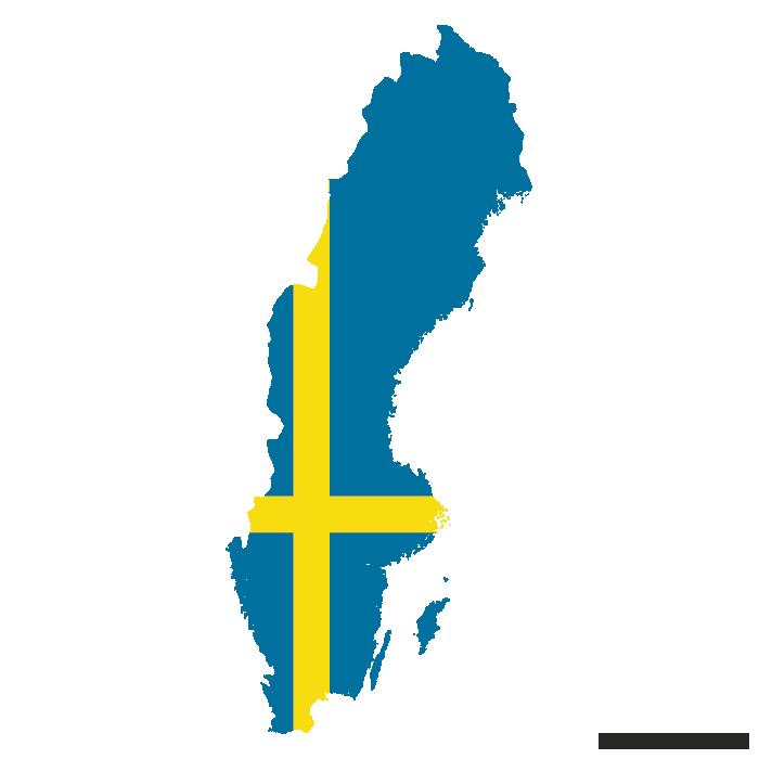 Flag Vector Map Of Sweden Flag Vector Map Vector Flag