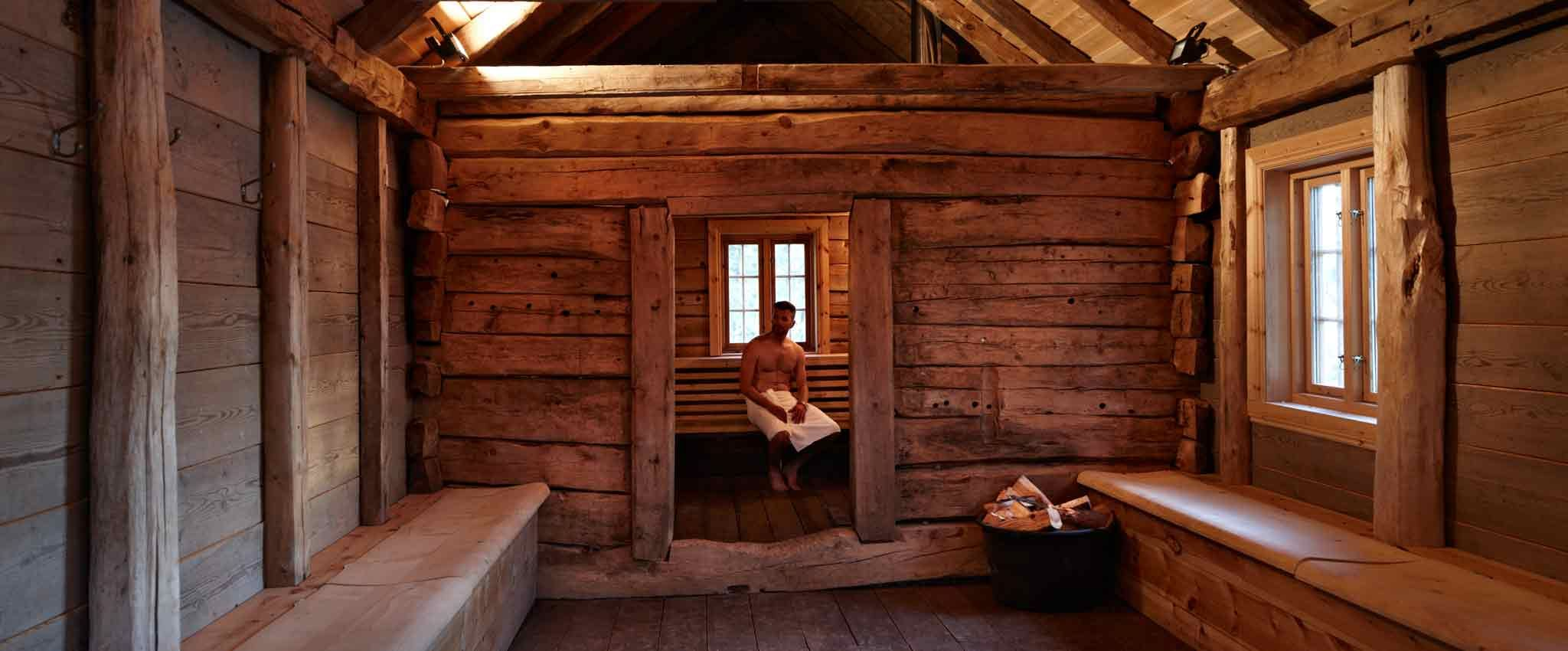 The sauna at Hardingasete by the Hardangerfjord, Norway