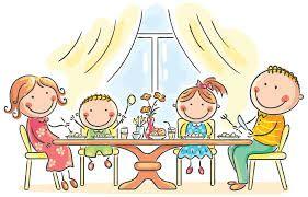 Resultado De Imagen De Dibujos De Ninos Comiendo Familia Feliz