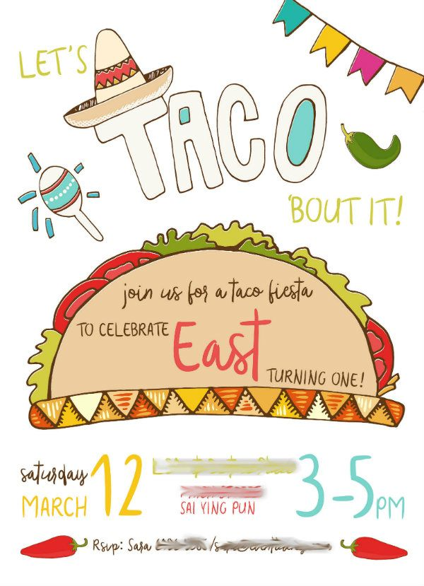 8523ffd2f6dc15ef7b1c766d3d23c3a5 taco invite east blured let's taco 'bout it it party pinterest,Taco Party Invitations