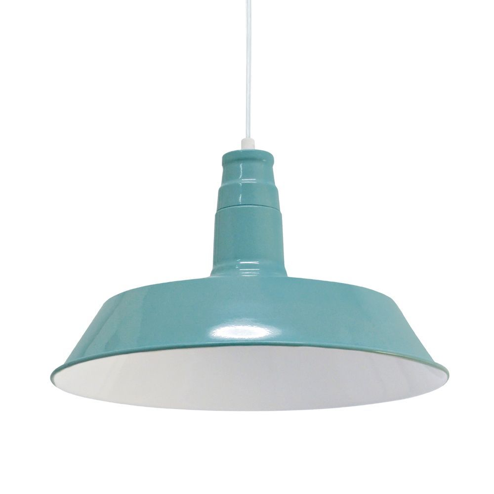 Kitchen Pendants - Vintage Mint Pendant Light, the shade has a White ...