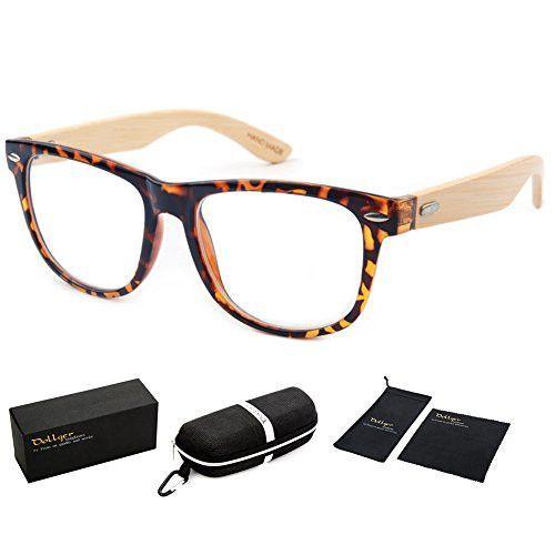 Dollger Handmade Sunglasses Bamboo Wooden Eyewear Vintage Wayfarer Sunglasses