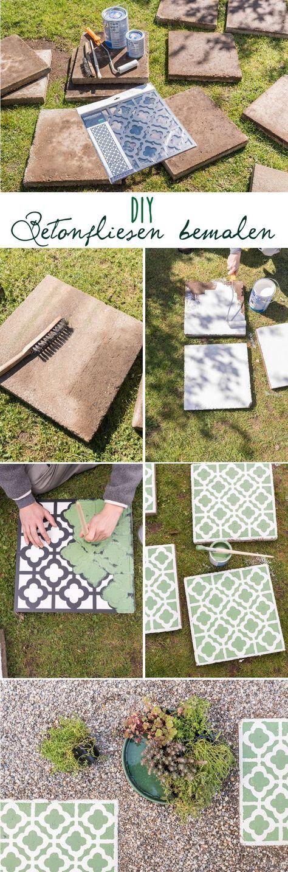 DIY - Betonplatten upcycling für den Garten Garden ideas, DIY
