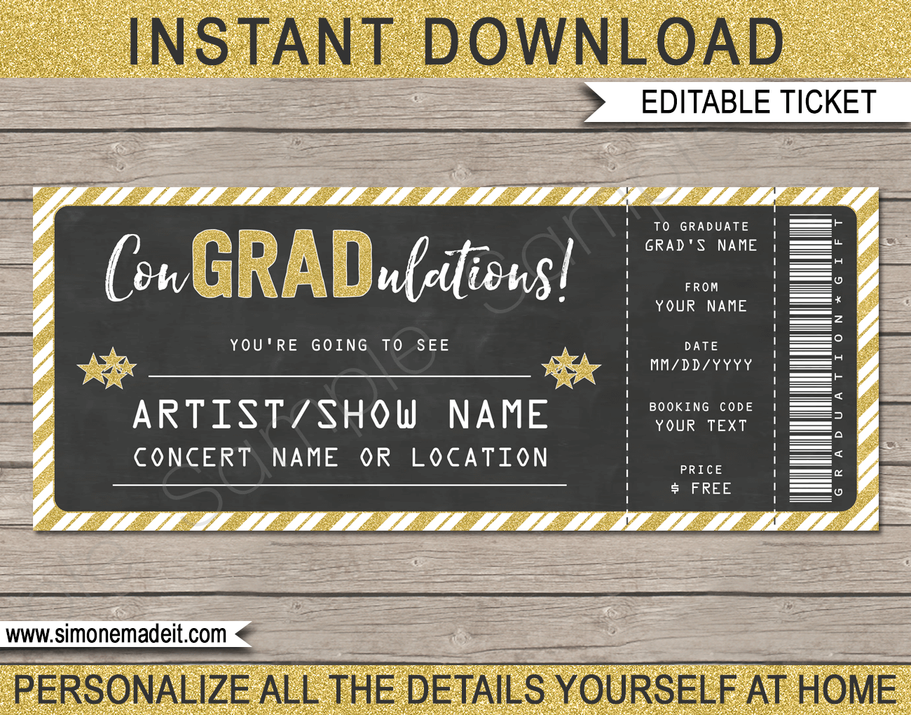 Graduation Ticket Template from i.pinimg.com