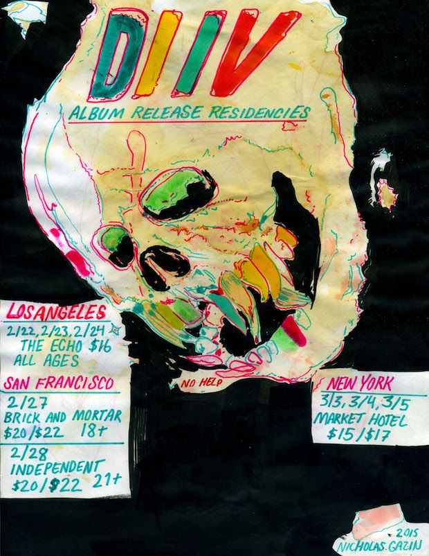 Diiv Share Is The Is Are Announce U S Shows In 2020 Band Posters Poster Music Poster