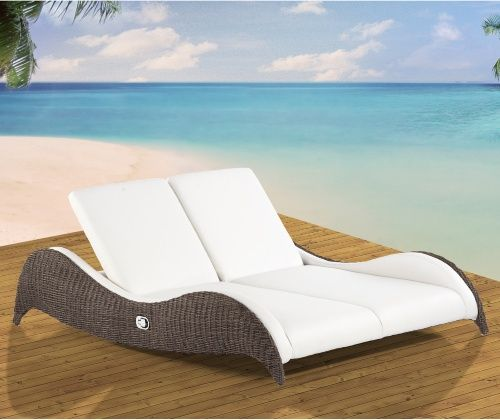 Domus Ventures Luxor Double Sunlounger Chaise Lounge - Outdoor Chaise  Lounges at Hayneedle - Domus Ventures Luxor Double Sunlounger Chaise Lounge - Outdoor