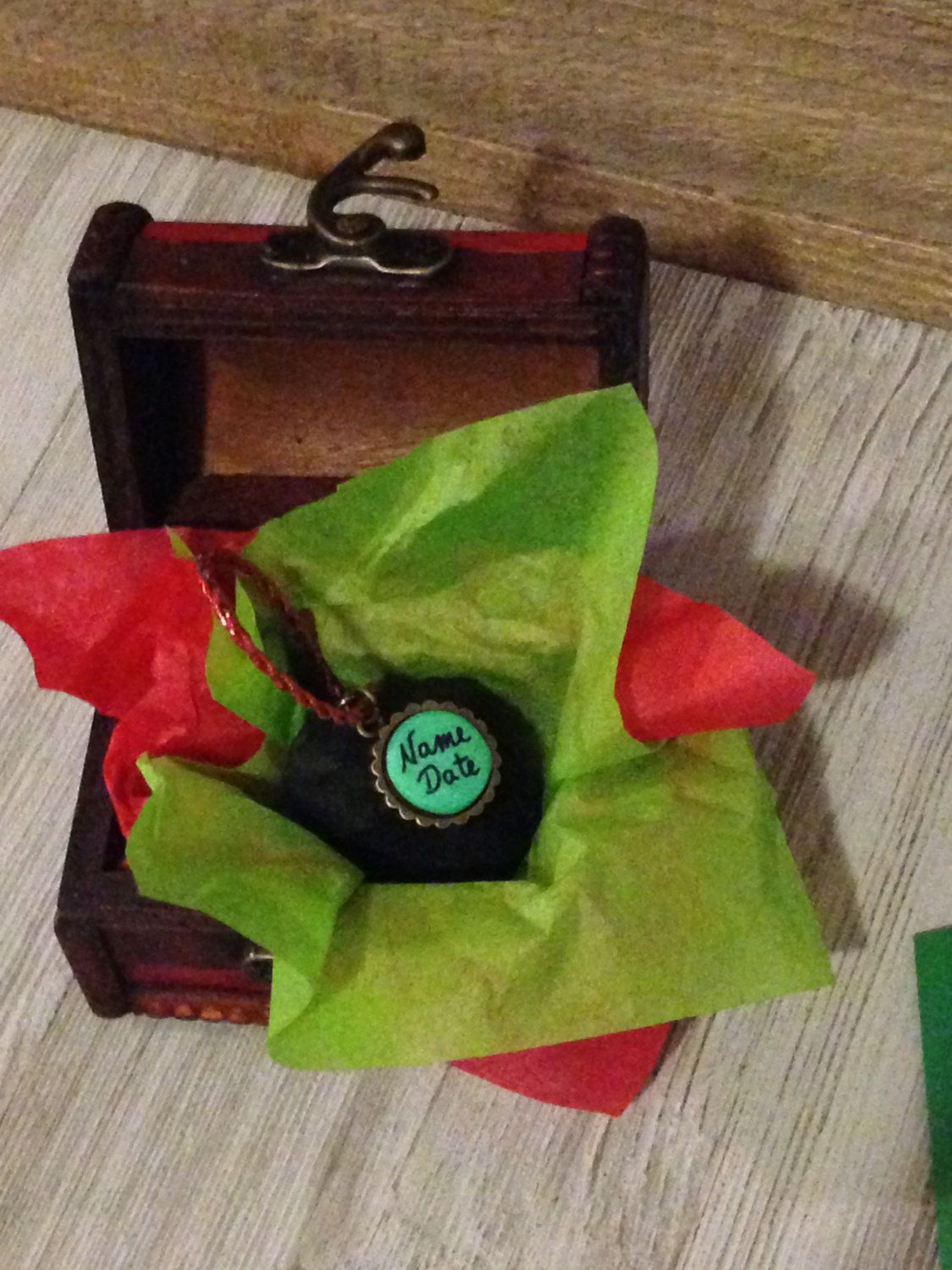 You've Been Naughty Santa Signed Lump of Coal Ornament