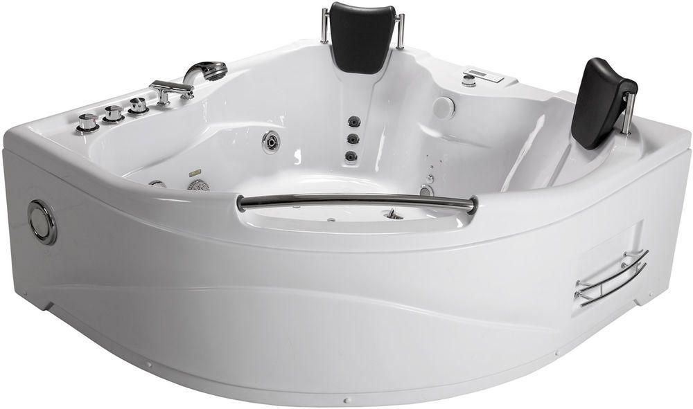 2 Person Indoor Hot Tub Jetted Bathtub Sauna Hydrotherapy Massage