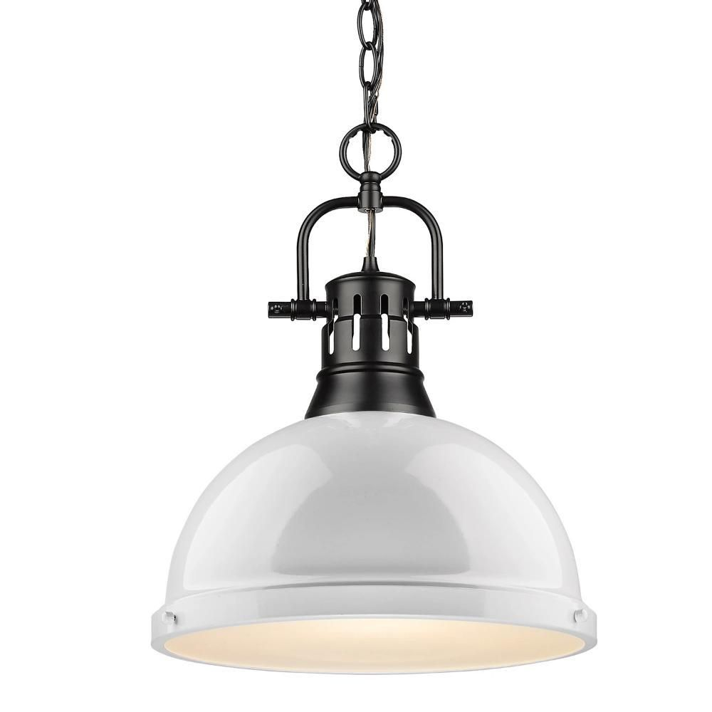 Duncan Large Pendant With Chain In Black In 2020 Pendant Lighting Black Pendant Light Glass Diffuser