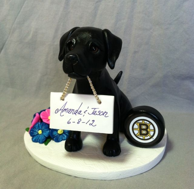 Laurie Valko Animals Custom Wedding Cake Toppers Dog