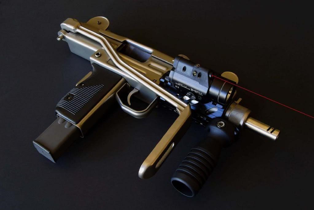 Mini UZI SMG with Robar NP3 | Weaponry | Pinterest | Guns ...