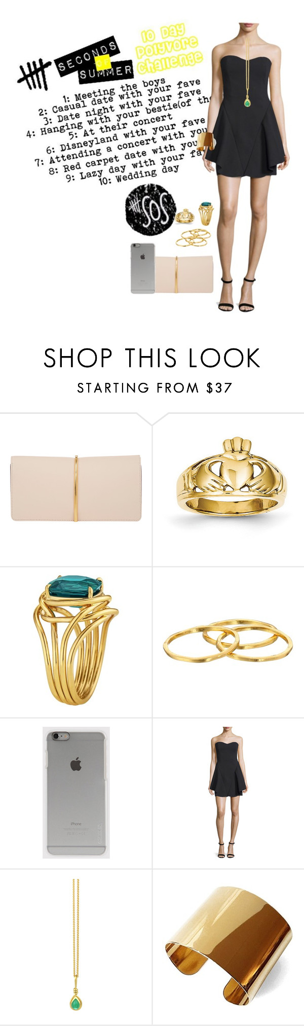 """Day 8: red carpet date with Luke (my fave)"" by sarah-horan-96 ❤ liked on Polyvore featuring Nina Ricci, Kevin Jewelers, Tiffany & Co., Gorjana, Incase, Halston Heritage, Prism Design and Tuleste"