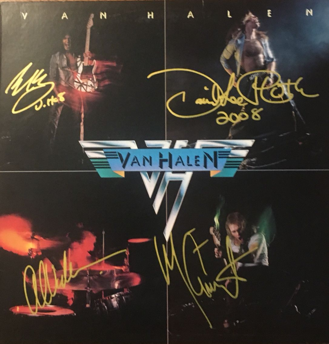 Van Halen 1st Album Released February 10 1978 Selling More Than 10 Million Copies In The United States Signed B Rock Album Covers Van Halen Concert Posters