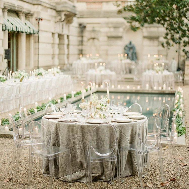 Grey White Wedding With Ghost Chairs Photo By Kt Merry And