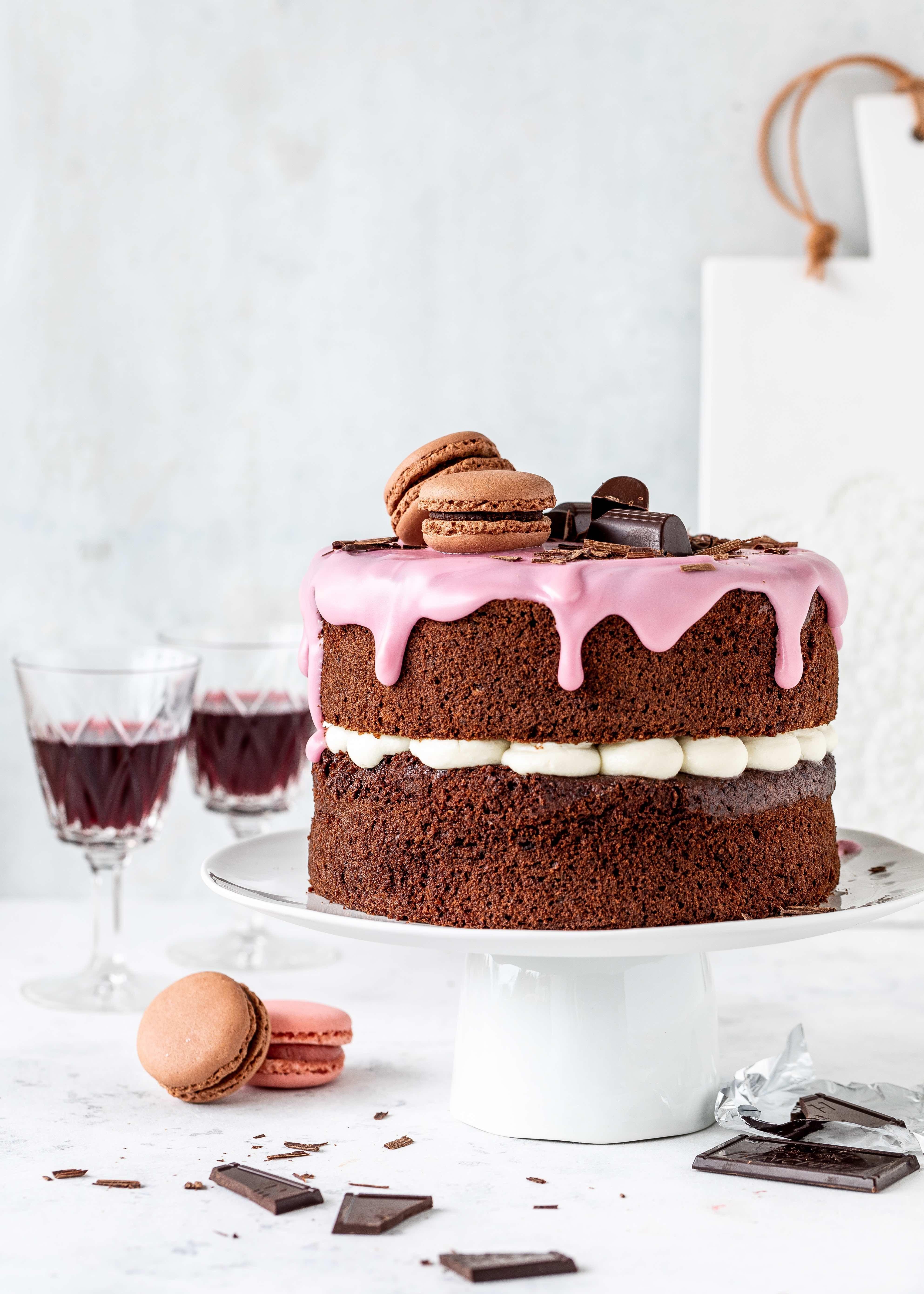 Rotwein Torte Mit Feiner Schokolade Und Ricotta Emma S