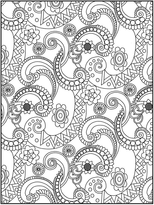 paisley coloring page printables