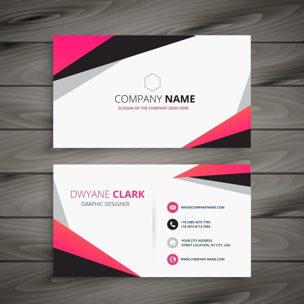 Abstract Business Card Vector Design Illustration Vector Business Card Name Card Design Interior Designer Business Card