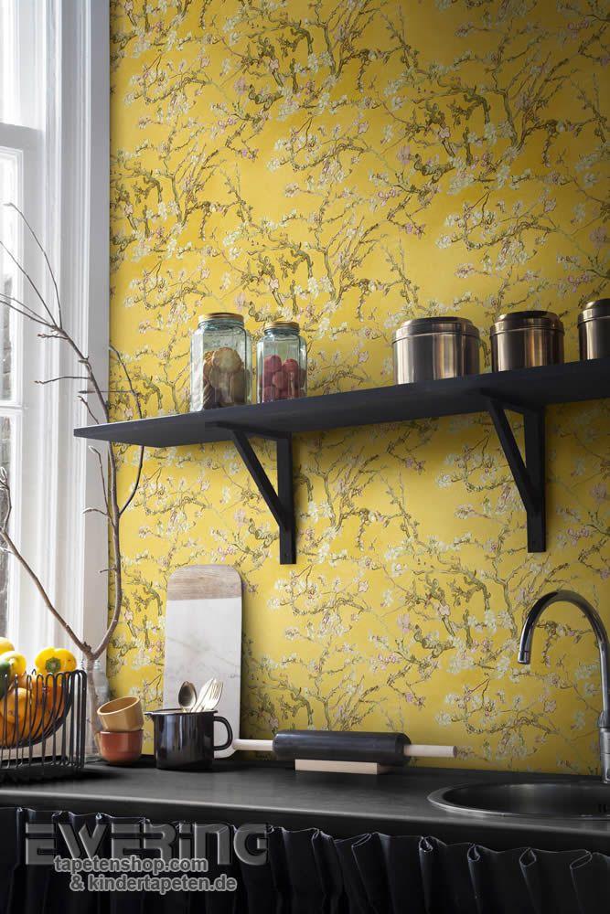 Van Gogh 13   Perfekt Für Eine Frische Küche: Die Weißen Mandel Blüten Auf  Gelbem Hintergrund.