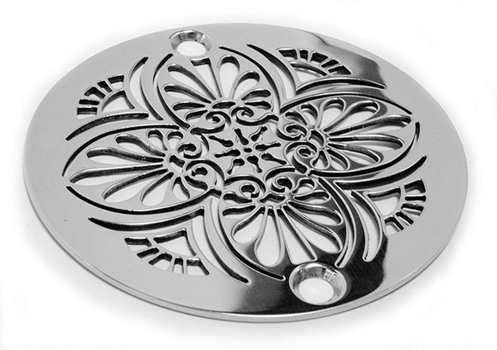 325 round shower drain greek anthemion by designer