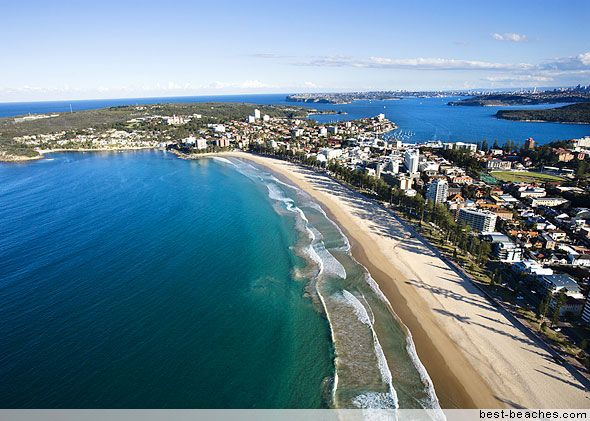 Manly Beach Just Across The Harbor From