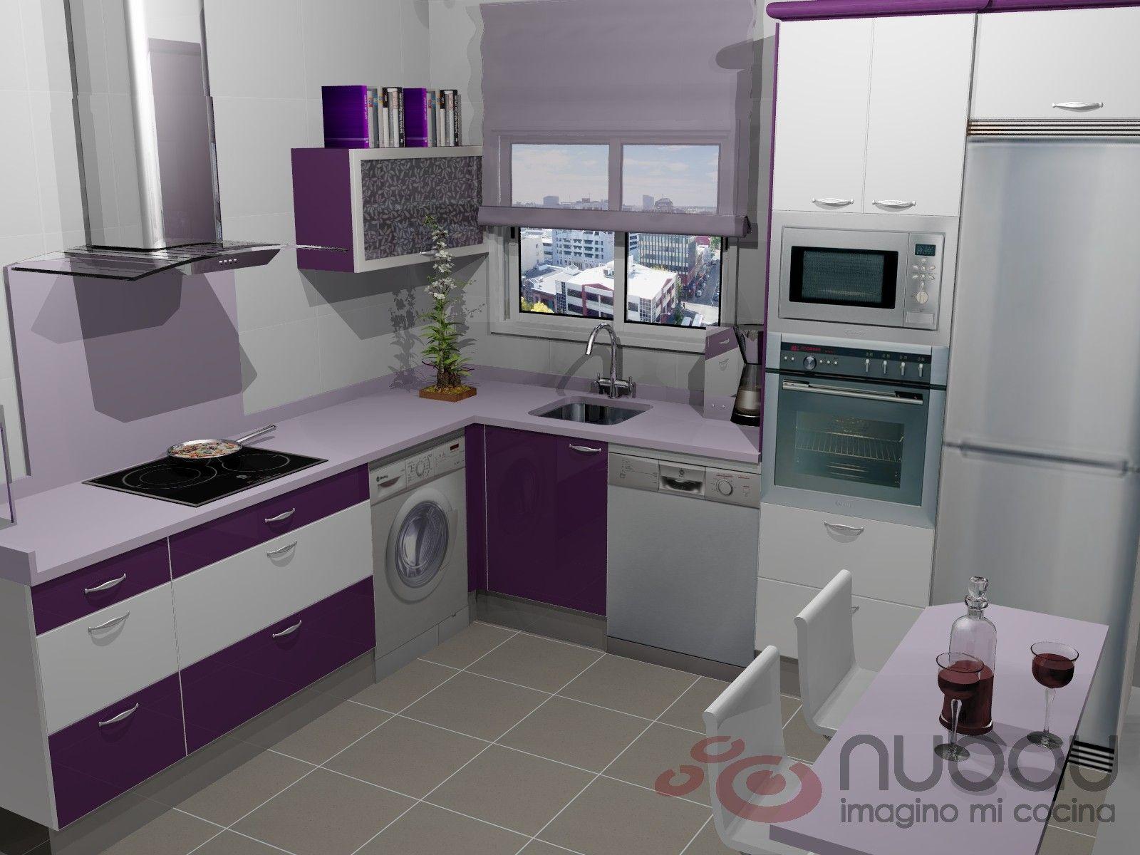 Cocinas moradas buscar con google cocinas pinterest for Google muebles de cocina