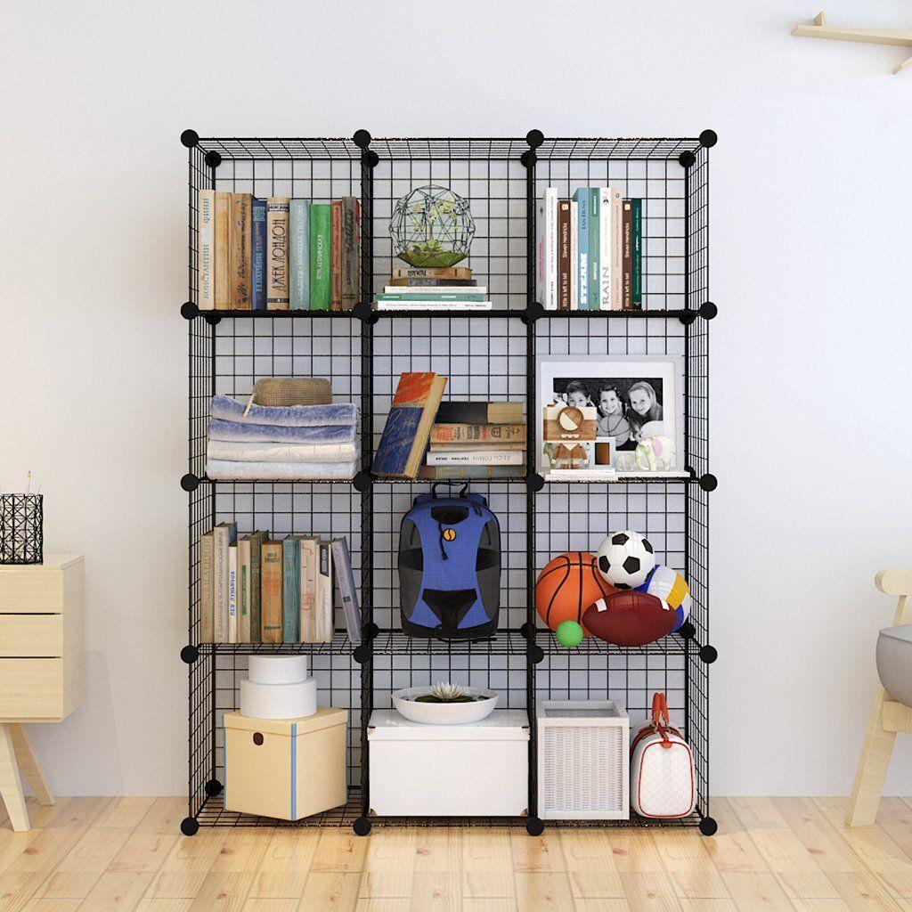 Tespo Metal Wire Storage Cubes Modular Shelving Grids Diy Closet