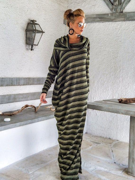 sale retailer ea15e c6cf5 Calda lana Maxi Abito kaftano / inverno caldo lungo vestito ...