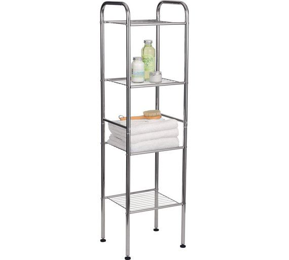 Buy Argos Home 4 Tier Wire Shelf Unit Bathroom Shelves Argos Glass Shelves In Bathroom Shelves Bathroom Shelves