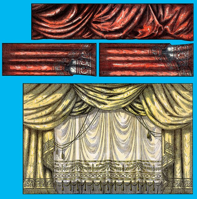 Curtain 1918 for paper theater from Danish publication Familie-Journal by esbenr, via Flickr